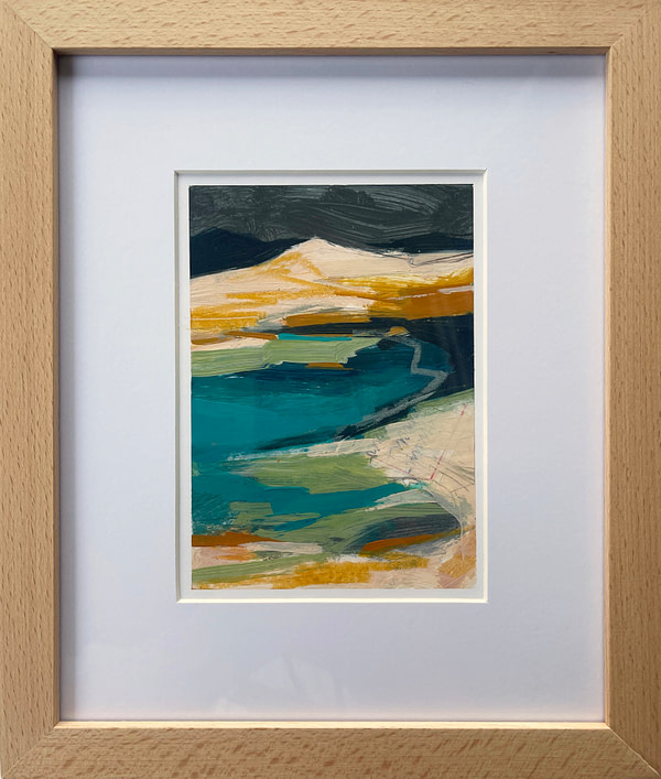 #100daysofborrowedcolour day 011 matted and framed in natural wood